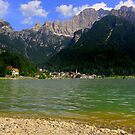 Lake Alleghe and Civetta by annalisa bianchetti