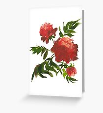 une pivoine rose Greeting Card