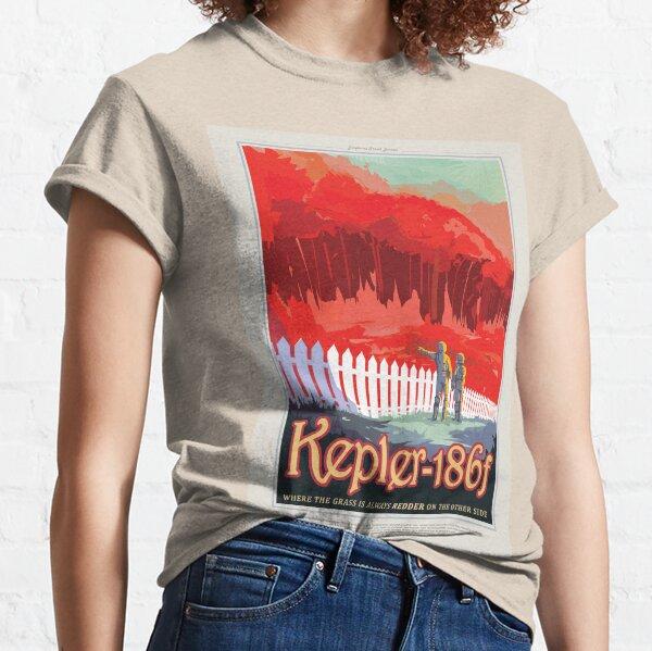 NASA JPL Exoplanet Travel Bureau: Kepler-186f (8K resolution) Classic T-Shirt