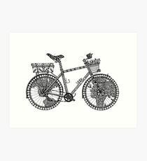 World Tour Bike Art Print
