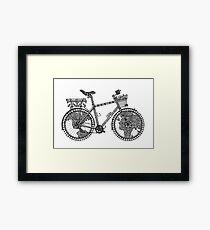 World Tour Bike Framed Print