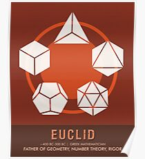 Science Posters - Euclid - Mathematician Poster