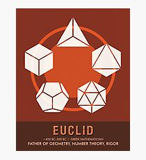 Science Posters - Euclid - Mathematician Photographic Print