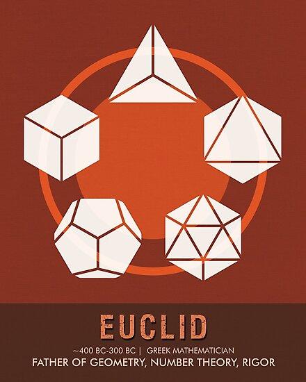 Science Posters - Euclid - Mathematician by Studio Grafiikka