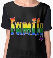 Rainbow Family Gay / lesbian Interest - from Bent Sentiments Chiffon Top