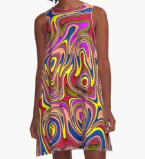 Colorful Bubble Fun A-Line Dress