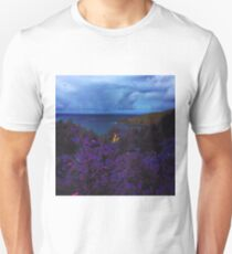Glitchy Jetty Mountain Flowers Unisex T-Shirt