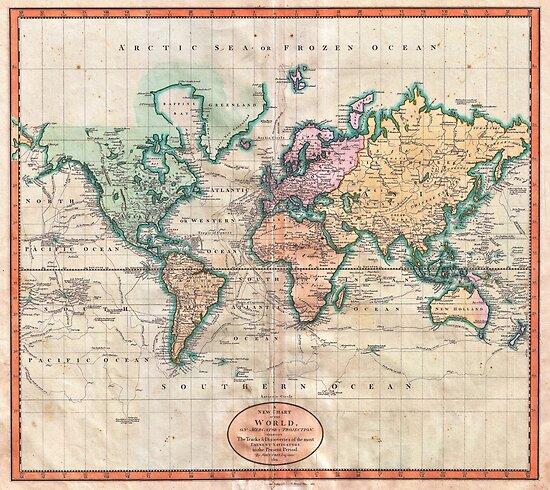 Weinlese-Weltkarte 1801 von naturemagick