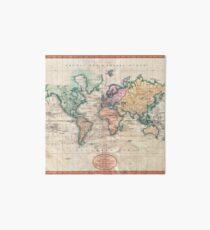 Vintage World Map 1801 Art Board
