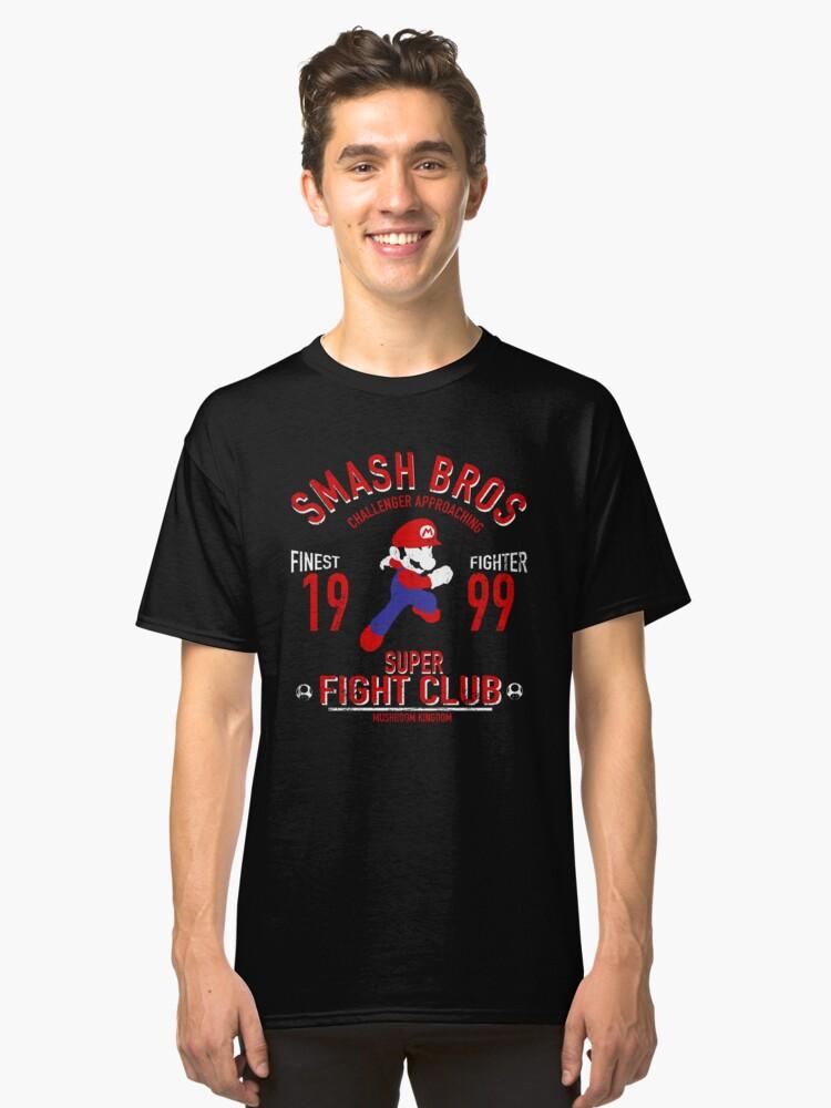 Mushroom Kingdome Fighter Classic T-Shirt Front