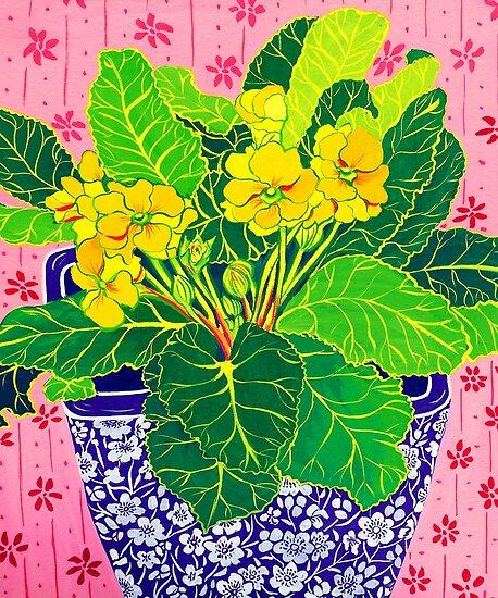 Pretty Primulas by marlene veronique holdsworth