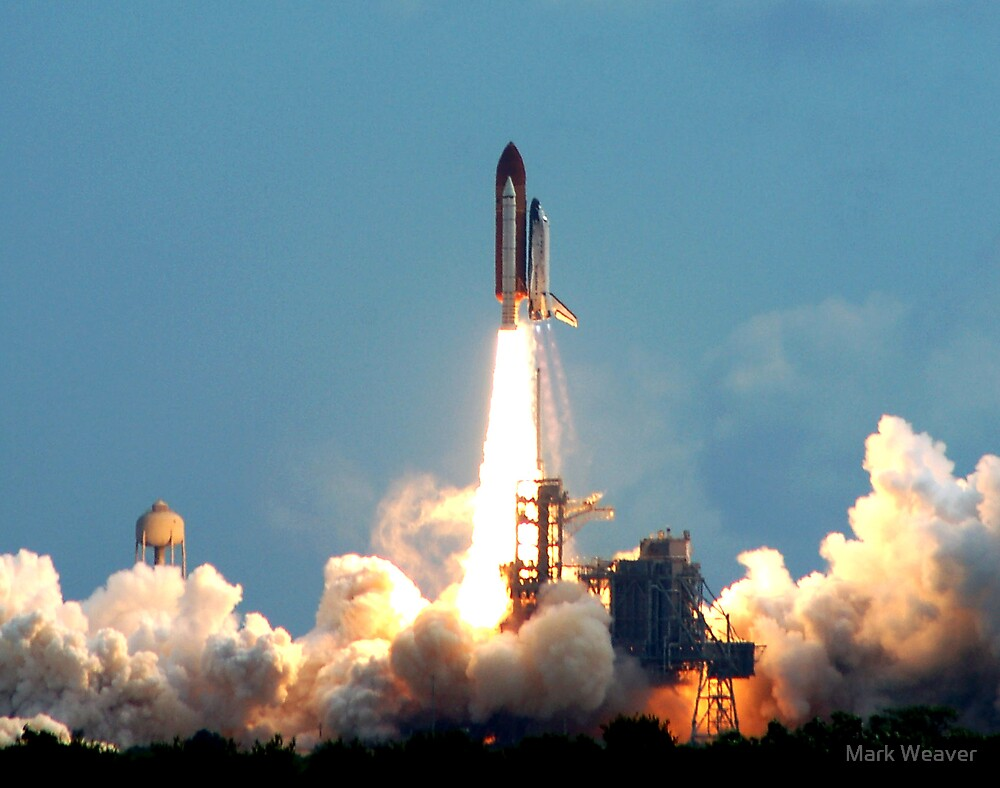 STS 120 launch. by Mark Weaver
