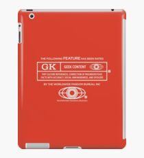 Rated Geek (white version) iPad Case/Skin