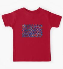 Red and Blue Weaving 1 Kids Tee