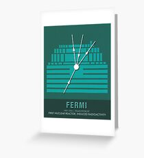 Science Posters - Enrico Fermi - Physicist Greeting Card