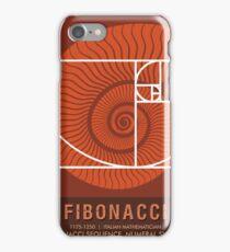 Science Posters - Fibonacci - Mathematician iPhone Case/Skin