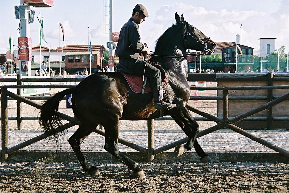 The flip side of Golega Horse Fair by francesca nunn