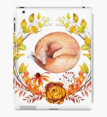 Sleeping Fox Autumn Wreath iPad Case/Skin