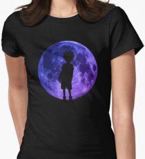 Killua Inspired Moon Anime Shirt Womens Fitted T-Shirt