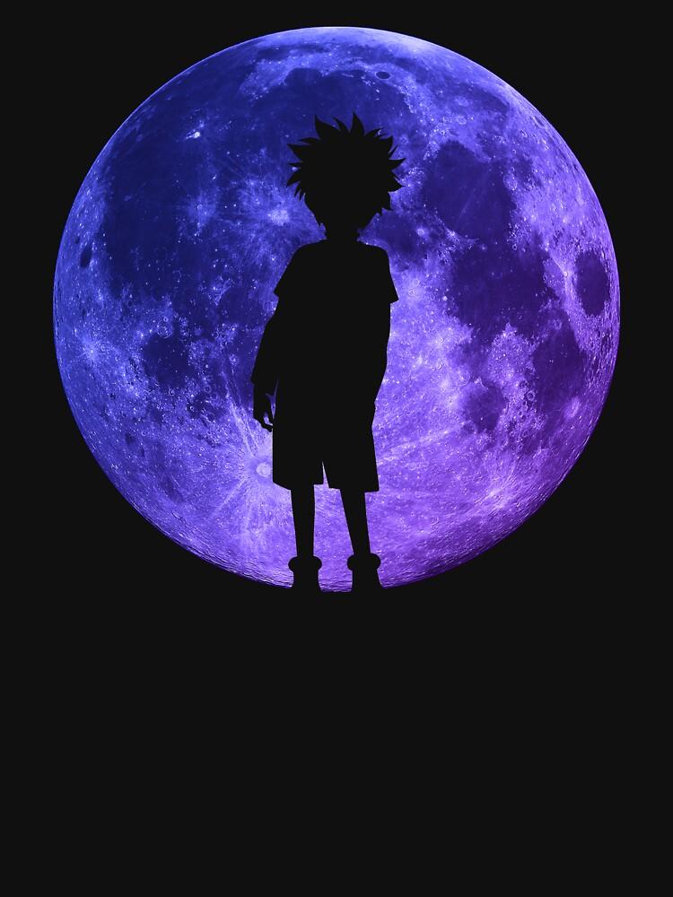 Killua inspirierte Mond Anime Shirt von MaximizedGITS