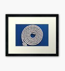 Rope round spiral Framed Print