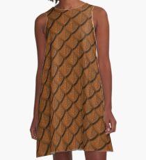 Elegant Copper Dragon Scale A-Line Dress