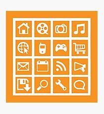 Web icon graphics (orange) Photographic Print
