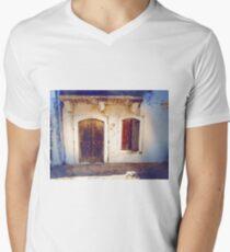 Doorway in Crete Men's V-Neck T-Shirt