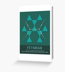 Science Posters - Richard Feynman - Theoretical Physicist Greeting Card