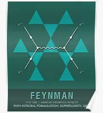 Science Posters - Richard Feynman - Theoretical Physicist Poster