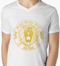 Lion's Pride Back Men's V-Neck T-Shirt