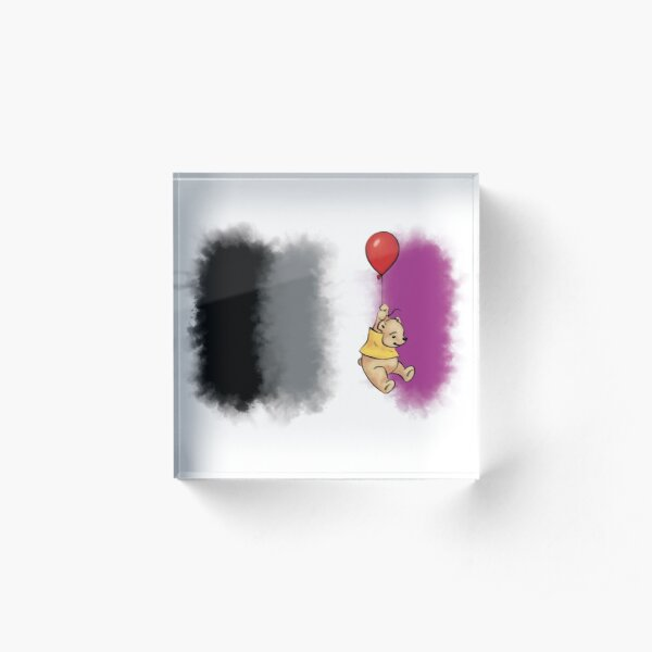 Pride Bear Asexual Acrylic Block