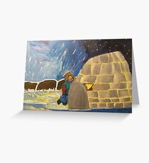 Igloo Greenland Greeting Card