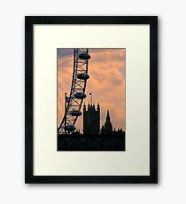Westminster and London Eye Framed Print