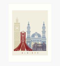 Algiers skyline poster Art Print