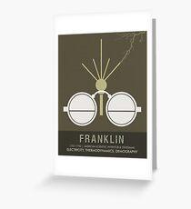 Science Posters - Benjamin Franklin - Scientist, Inventor, Statesman Greeting Card