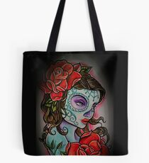Undead Wild Rose Tote Bag
