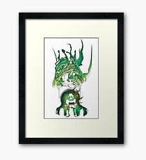 alien will attack us Framed Print