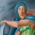 Sibila Delphica. Sistine Chapel. After Miguel Angelo. by terezadelpilar ~ art & architecture