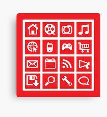 web icon graphics (red) Canvas Print