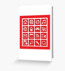 web icon graphics (red) Greeting Card