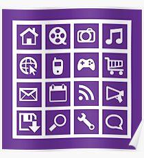 Web icon graphics (purple) Poster
