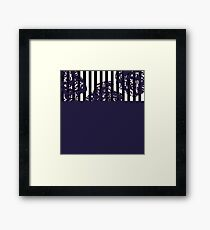 Navy Cut Out Framed Print