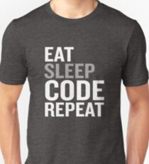 Funny Eat Sleep Code Repeat Programmer Gift Unisex T-Shirt