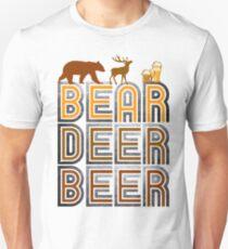Retro Vintage Bear Deer Beer Unisex T-Shirt