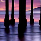 Purple Sunset at Pismo Beach by Gregory Ballos