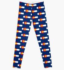 Colorado USA Staatsflagge Tagesdecke T-Shirt Aufkleber Leggings