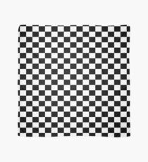 Black White Checker Design Bedspread - Mini Chess Sticker Scarf