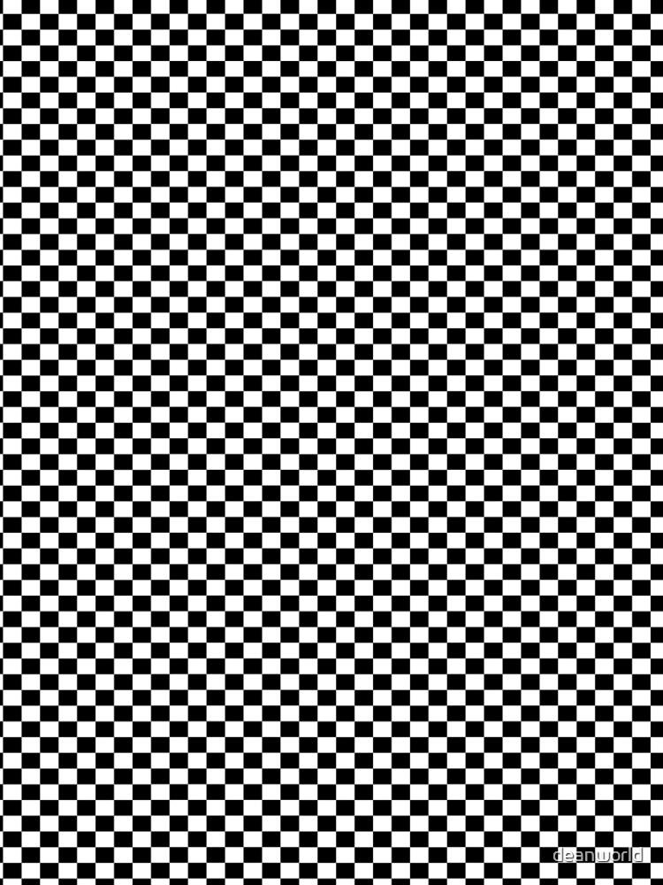 Black White Checker Design Bedspread - Mini Chess Sticker by deanworld
