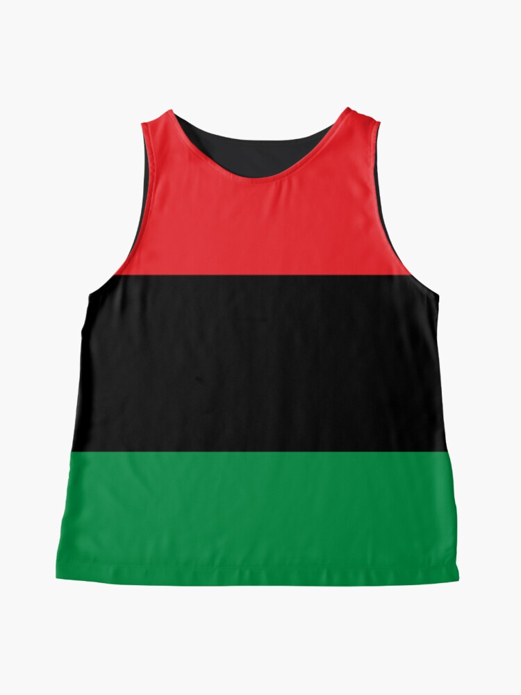 Alternate view of Pan African Flag T-Shirt - UNIA Flag Sticker - Afro American Flag Sleeveless Top
